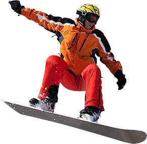 Snowboard Man Relaxing on Holiday with Insure My Travel
